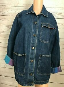 CHERYL TIEGS Women's 16 Vintage Denim Jean Jacket