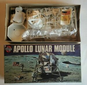 Vintage Airfix Nasa Apollo Lunar Module 1:72 Scale Model Kit