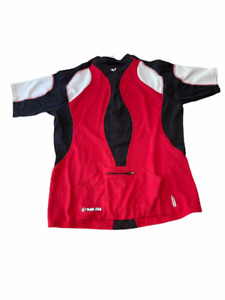 Pearl Izumi Men's Red Cycling Jersey Short Sleeve 1/4 Zip Size XL