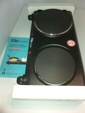 Elite Cuisine Hot Plate Electric Double Buffet Burner with Dual Temp EDB-302BF