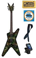 Dean DimeBag Dime Camo ML Electric Guitar, FREE STRINGS STRAP TUNER CLOTH , DB C