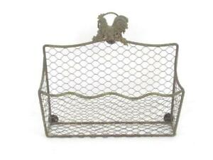 Vintage Hanging Letter Holder Chicken Wire Small Home Organization