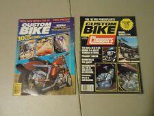 LOT OF 2 1981 CUSTOM BIKE MAGAZINES,MARCH,DEC., 10 TOP CUSTOMS,HARLEYS,BONNEVILL
