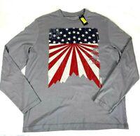 Daniel CREMIEUX Logo T Shirt - Gray TEE - Long Sleeve Large - NEW
