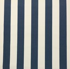 """OUTDURA 2058 CAFE MARITIME BLUE WHITE CANVAS STRIPE OUTDOOR FABRIC BY YARD 54""""W"""
