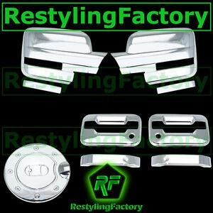 09-14 Ford F150 Chrome Mirror+2 Door Handle+no keypad+PSG keyhole+Gas Cover