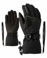 Ziener Ski Handschuhe GOFRIED AS 8,5 M Grau Schwarz Aquashield Mens Grey Black