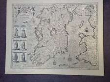 IRELAND, KINGDOM OF Map  - by John Speed - Uncoloured