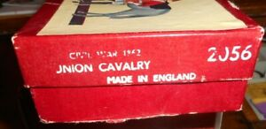Britains Lead Toy Soldiers Civil War Union Calvary w/Officer Trumpeter Ref #2056