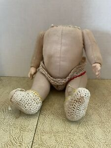 """Antique cloth 9.5"""" Doll Jointed Body Composition Hands"""