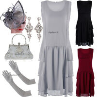 Ruffle 1920s Flapper Dress Evening Gowns Prom Party Plus Size Dancewear Costumes