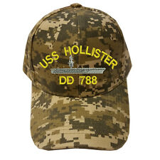 DIGITAL CAMO CAMOUFLAGE USS HOLLISTER DD 788 SHIP LOGO Military Cap Hat