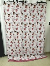 Dora the Explorer Twin Bed Flat Sheet Floral Pattern Boots Girl 2008