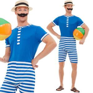 20s Bathing Suit Seaside Costume Mens Fancy Dress