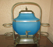 Cambridge / Paden City Blue Satin Samovar