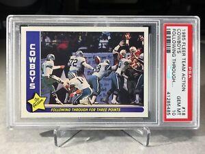 1985 Fleer Team Action Dallas Cowboys #18 - PSA 10 - POP 10