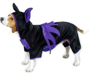 Bat Dog Costume - XS - Halloween - Purple/Black - Easy Fit - Casual Canine - NWT