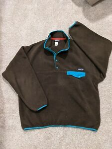 Patagonia Men's Synchilla Snap-T Pullover Brown XL