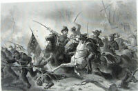Civil War BATTLE OF GETTYSBURG Geroge Meade Robert Lee, 1881 Art Print Engraving