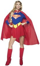 ADULTS WOMENS SUPERHEROES SUPERGIRL SUPERMAN HALLOWEEN COSTUME - Large