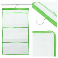 Mesh Bath Shower Bathroom Organizer 6 Storage Pockets Hanging Caddy Toy Storage