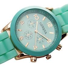 NEW Green Lady Sport Quartz Wrist Watch Vintage Women Girl Fashion Casual Reloj