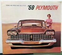 1959 Plymouth Dealer Color Brochure Forward Look Sport Fury Belvedere Savoy