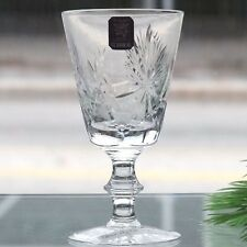 "STAR OF EDINBURGH by Edinburgh WINE GLASS 6"" tall NEW NEVER SOLD Scotland"