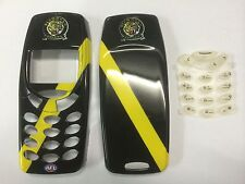 Nokia 3310,3330 Richmond Tigers AFL Matching Front & Back Covers & Keypad.B/New