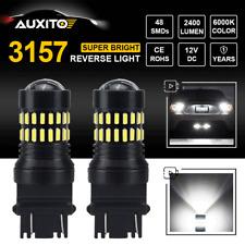 48-SMD 3157 3156 LED Reversing Parking Brake Turn Signal Lamp ULTRA BRIGHT WHITE