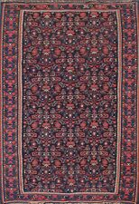 New listing Antique Floral Oriental Traditional Area Rug Flat Weave 4x5 ft Navy Blue Carpet