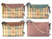 Burberry Haymarket Colour Peyton Crossbody Wristlet Hand Bag