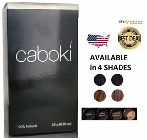 Caboki Hair Building Fibers 25 grams BLACK, DARK BROWN, MEDIUM or LIGHT BROWN