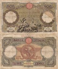 100 LIRE - BANCA D'ITALIA LIRE CENTO DECR. MIN. 9 GIUGNO 1937 - V254