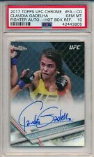 Claudia Gadelha 2017 Topps Chrome Fighter Auto Hot Box REF 13/20 PSA 10