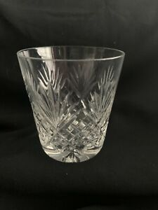 """ROYAL DOULTON CRYSTAL WHISKY,OLD FASHIONED TUMBLER 3.75"""" by 3.25""""(signed)"""