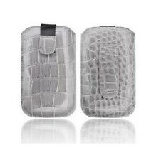 Cover Case Pouch Croco Apple IPHONE 4 4S Grey Gray