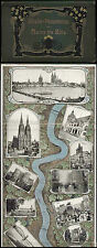 Rhin panorama de Mayence à Cologne coloré Leporello de 1900