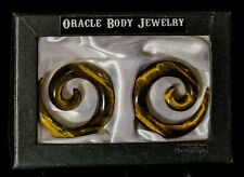 Oracle Body Jewelry 00 Earrings Tigers Eye Stone Swirl Plugs