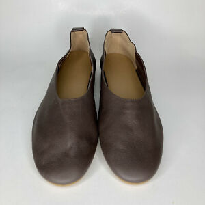 Everlane The Day Glove Leather Ballet Flat Burgundy Leather Size 11 EUC