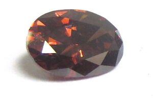 .45 Carat OVAL Redish Brown Rough Cert Polished Diamond