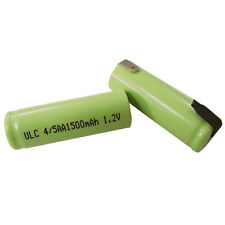 2 pcs 1500mAh 4/5 AA Ni-MH 1.2V Rechargeable Battery with tabs Green power