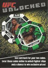 Quinton Jackson Jon Jones 2011 Topps UFC Moment Of Truth Unlocked Card # 9