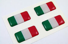 "Italy mini domed decals set 4 emblems 1"" x 0.5"" Italian Italia Car bike stickers"