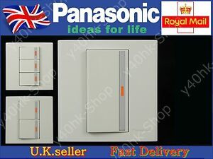 Panasonic Marco Series light wall switch1/2/3 Gang 2 Way with LED Screwless