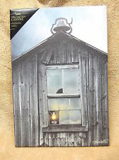 Olde School House Barn Country Lighted Canvas Wall Decor Sign