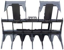 "62"" Faver Skid Steer Grapple Bucket Loader Root Rake Attachment New Holland"