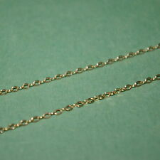 "20"" 50cm 14kt GOLD FILLED Fine 1.5x2mm Flat CABLE Chain NECKLACE"