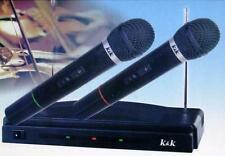 Coppia microfoni wireless per karaoke centralina senza filo