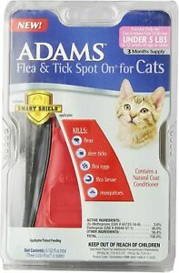 Adams Cat & Kitten UNDER 5 Lbs 3 Month Flea Tick Spot On Smart Shield Applicator